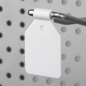 Пластиковый ценник для навесного крючка