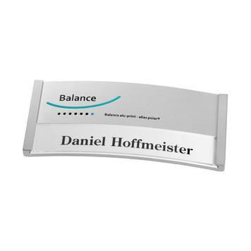 """Бейдж """"Balance Alu-Print"""" с печатью"""