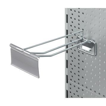 Подвесной ценник для перфорированых стенок