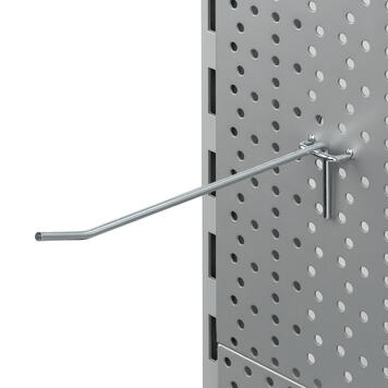 Крючок для перфорированной стенки, одинарный, 4mm