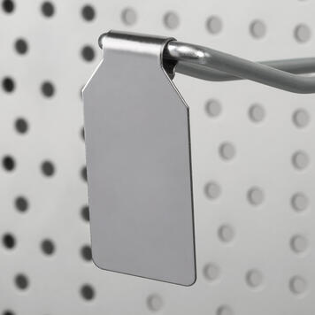 Металлический ценник для двойного крючка, с зажимом