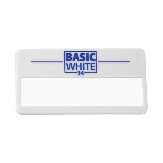 """Бейдж  """"Basic White 34""""/Белый"""