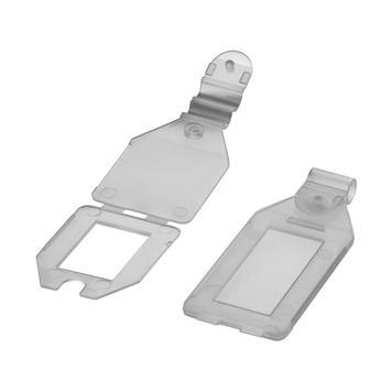 Пластиковый ценник для двойного крючка