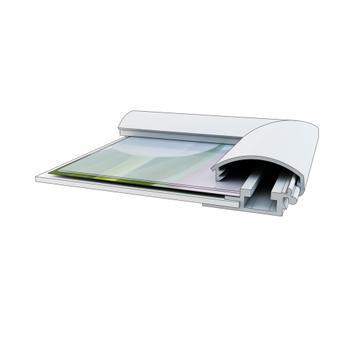 Алюминиевая защёлкивающаяся рамка 25 мм