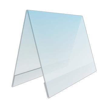 Акриловая настольная подставка, для вставок стандартных форматов.